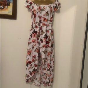 Women's floral printed jumpsuit maxi dress romper